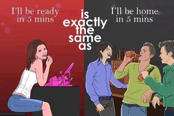 남녀의 극명한 차이점 21가지