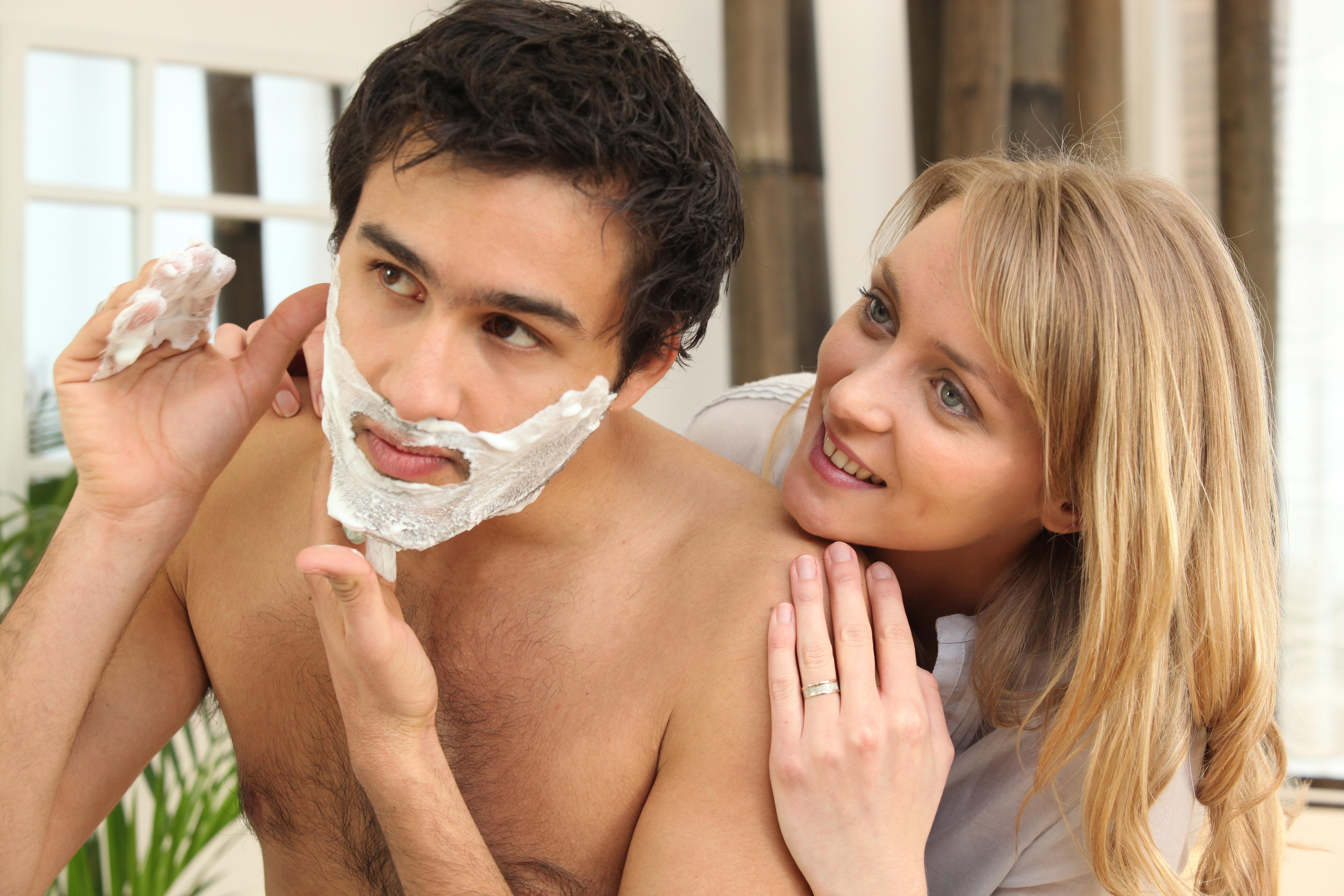 Watching boyfriend shave